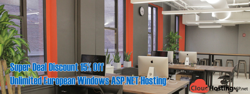 Super Deal Discount 15% Off Unlimited European Windows ASP.NET Hosting