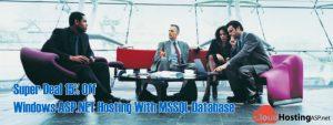 Super Deal 15% Off Windows ASP.NET Hosting With MSSQL Database