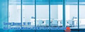 Special Discount 15% Off Best European Windows ASP.NET Core 2 Cloud Hosting