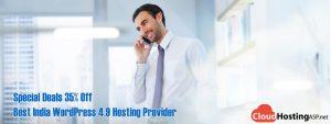 Special Deals 35% Off Best India WordPress 4.9 Hosting Provider