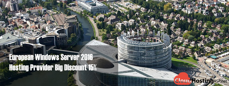 European Windows Server 2016 Hosting Provider Big Discount 15%